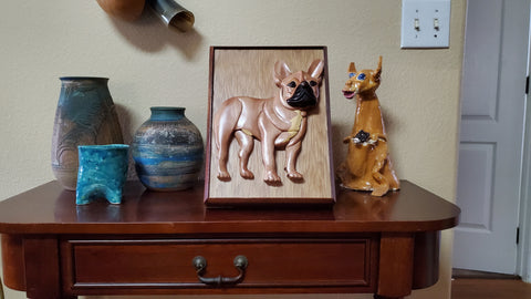 Wooden Pet Urn for French Bulldog