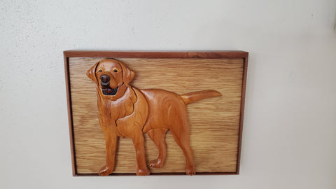 Wooden Handmade Pet Urn for Yellow Lab