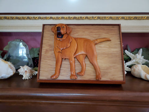 Yellow Lab Pet Urn