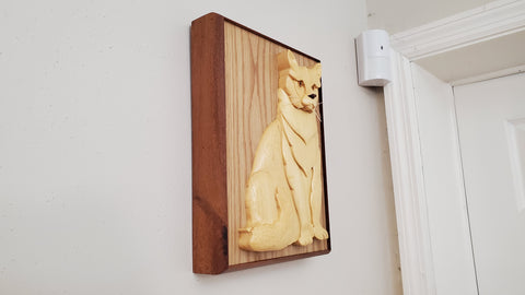 Cat Urn Hanging on Wall