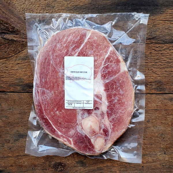 Red Wattle Ham Steak ~ 1.75 lbs