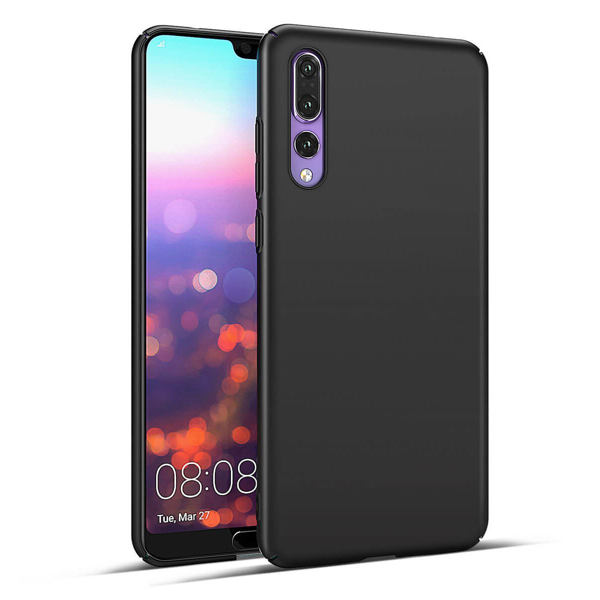 Huawei P10 Case Protective Slim Thin Hard Cover - Black