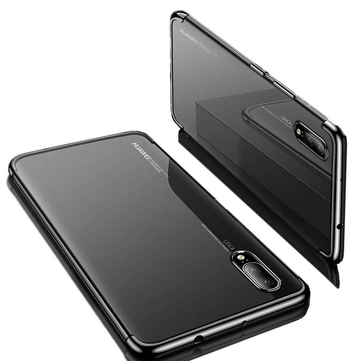 FinestBazaar Back Cases Black Huawei P10 Lite Case Silicone Gel Clear Thin Cover