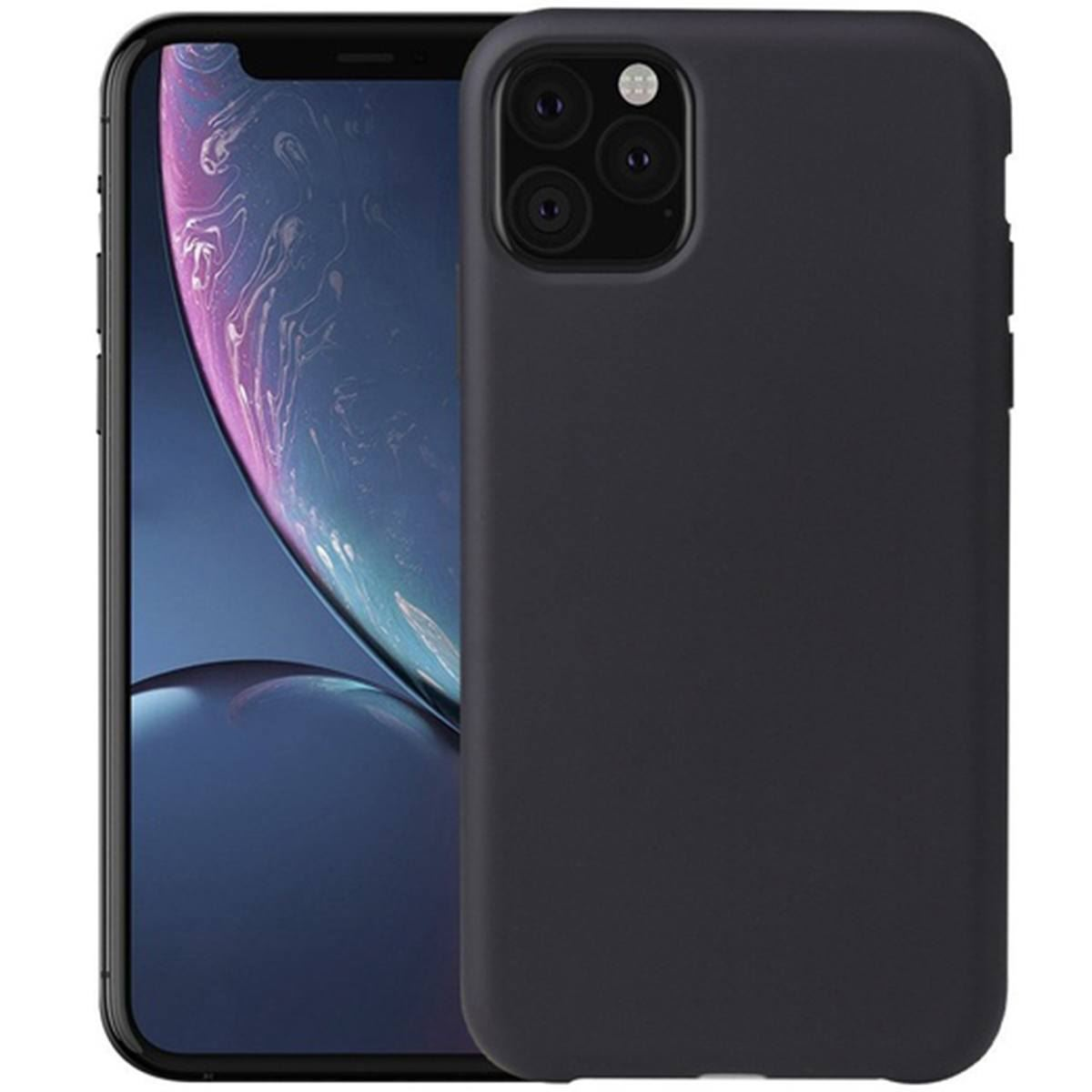 iPhone 11 Case Silicone Back Soft Rubber Cover - Black