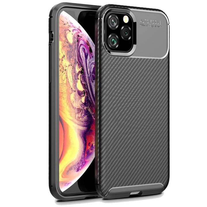 FinestBazaar Back Cases Black iPhone 7 Case Carbon Fibre Bumper Cover