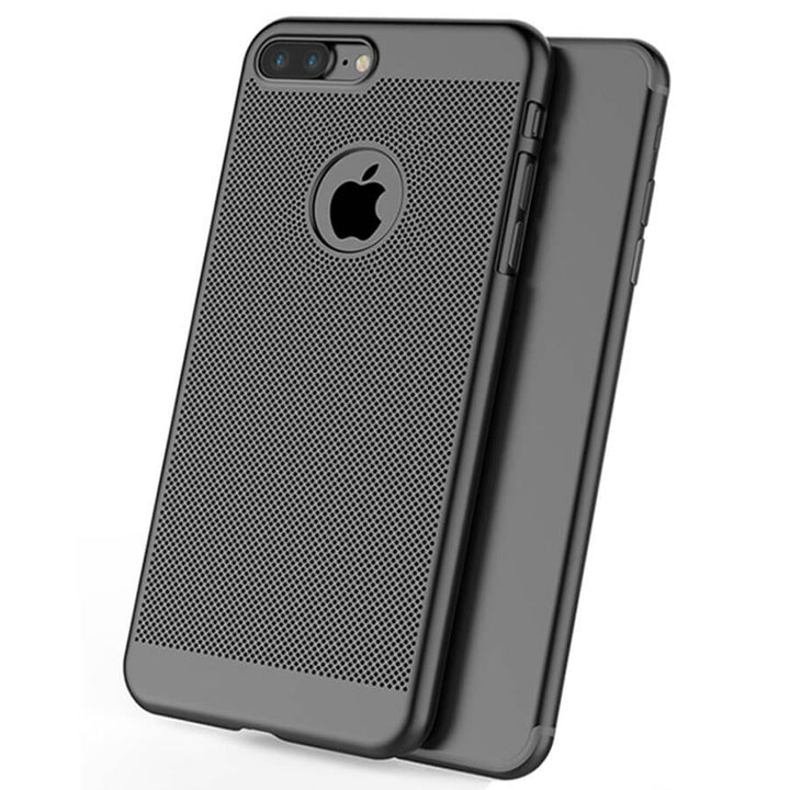 FinestBazaar Back Cases Black iPhone 7 Plus Case Ultra Thin Slim Mesh Cover