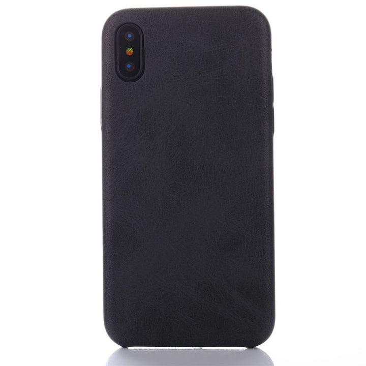 FinestBazaar Back Cases Black iPhone Xs Case Leather Thin Slim Back Cover