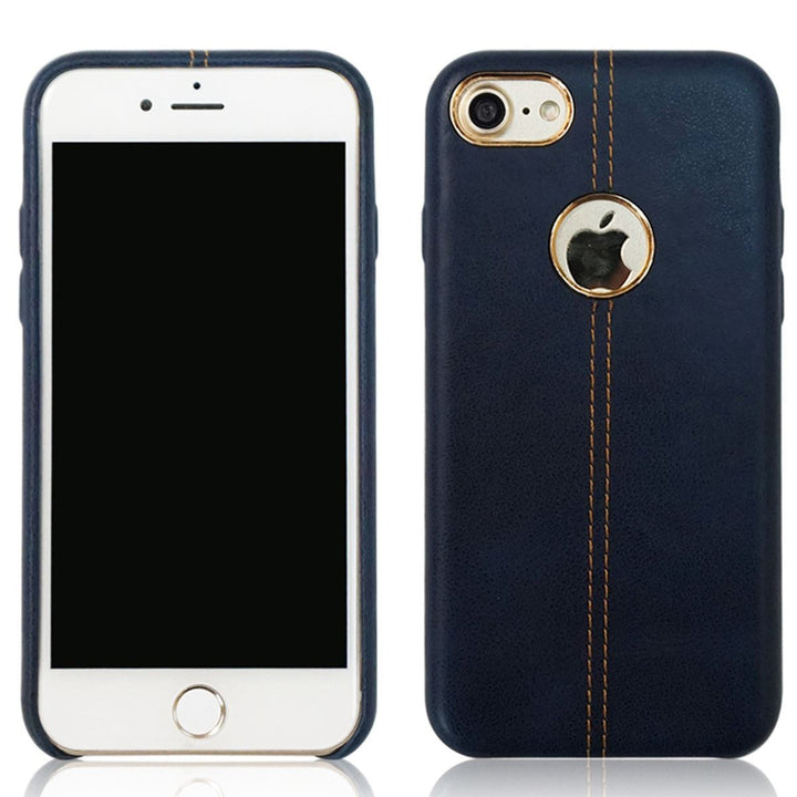 FinestBazaar Back Cases Blue iPhone 8 Case Leather Back Protective Cover