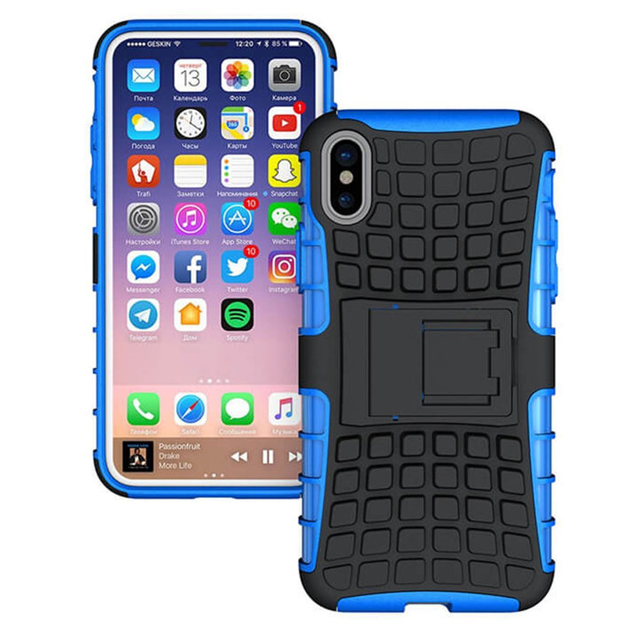 FinestBazaar Back Cases Blue iPhone Xs Case Shockproof Tough Protective Cover