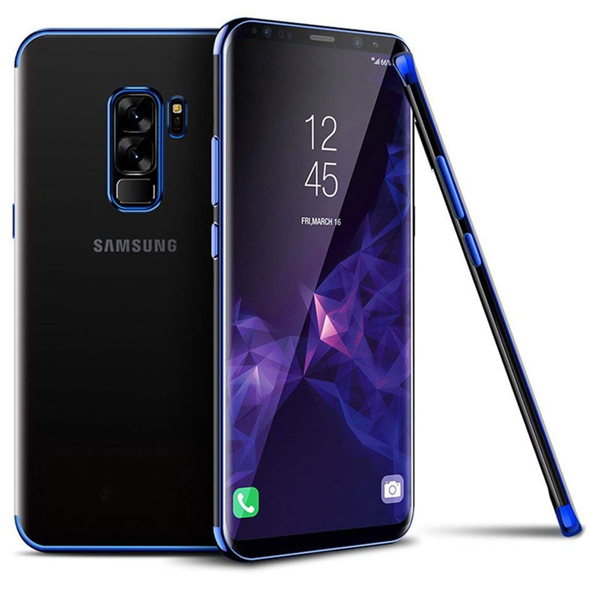 Samsung Galaxy Note 9 Case Silicone Gel Clear Cover - Blue