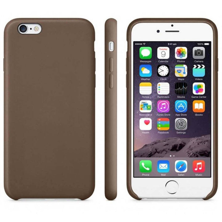FinestBazaar Back Cases Brown iPhone 7 Plus Case Leather Back Silicone Cover