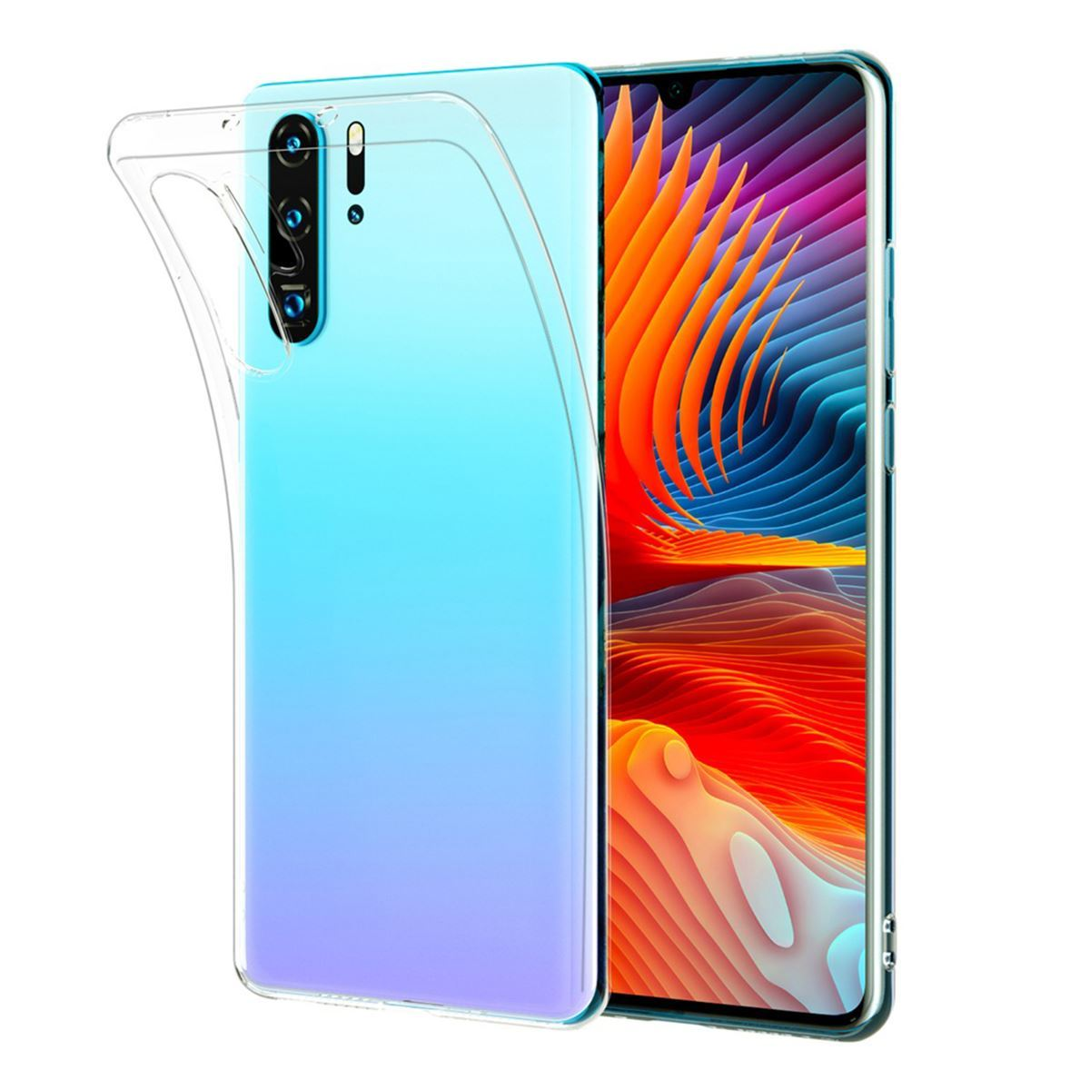 Huawei Mate 20 Pro Case Clear Silicone Gel Cover - Clear