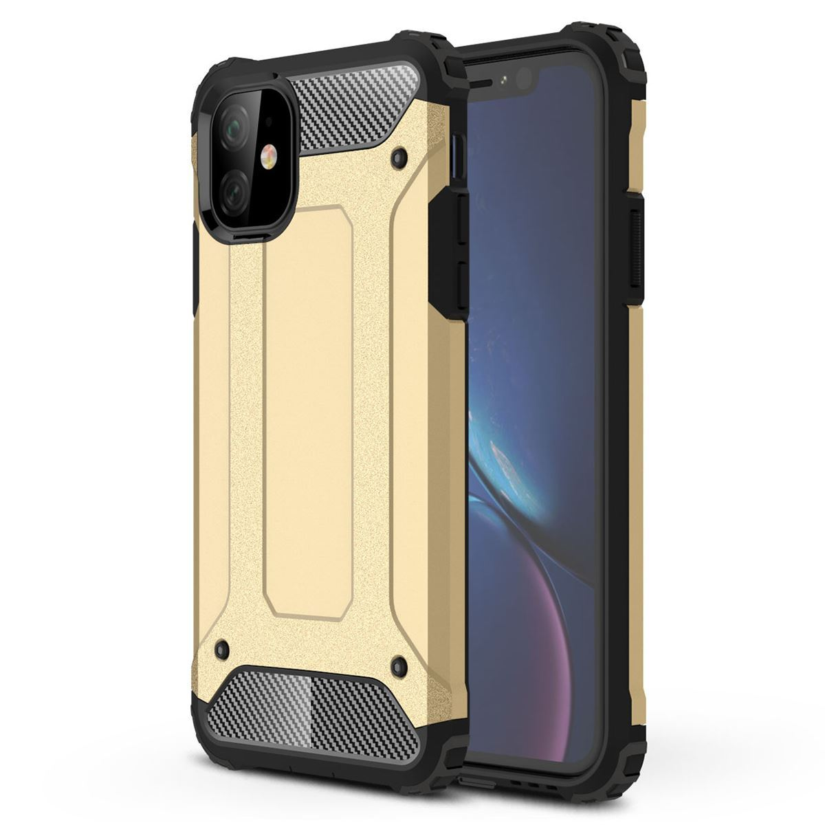 iPhone 11 Case Shockproof Protective Cover - Gold