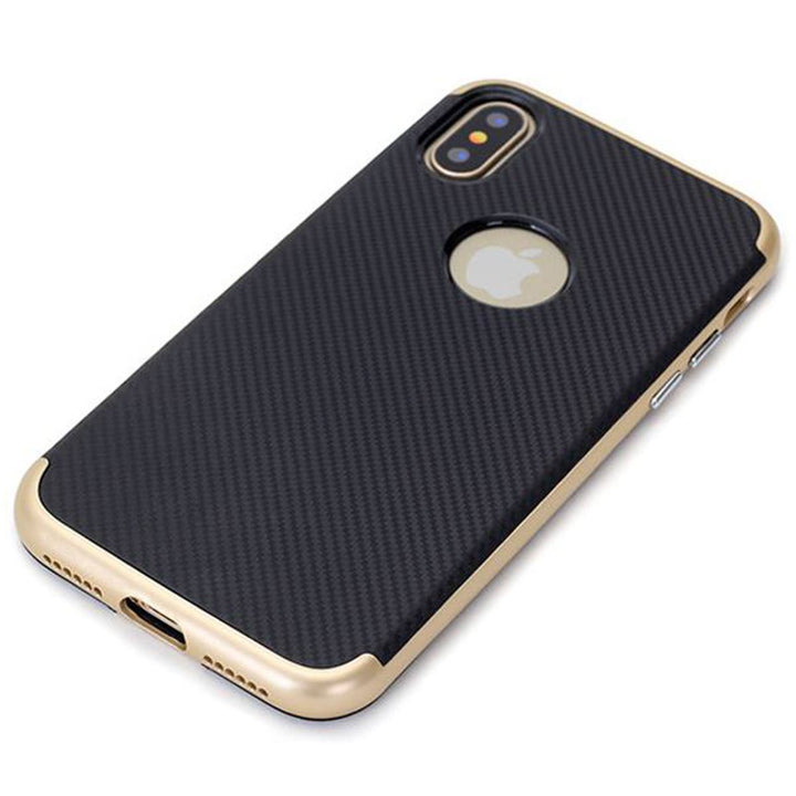 FinestBazaar Back Cases Gold iPhone 5s Case Carbon Fiber Bumper Back Cover