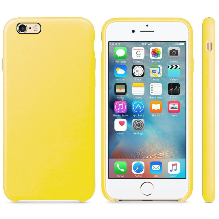 FinestBazaar Back Cases Gold iPhone SE 2020 Case Leather Back Silicone Cover
