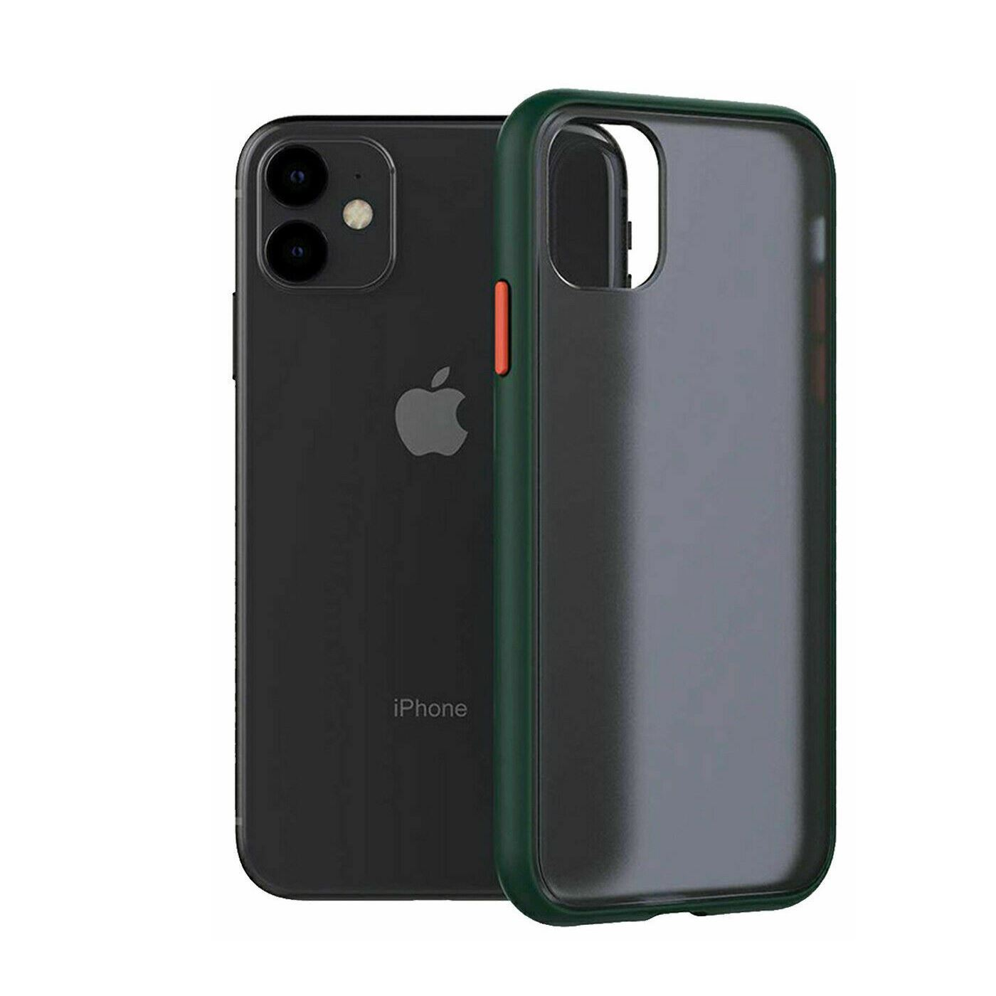 iPhone 11 Pro Case Bumper Hard Back Cover - Green