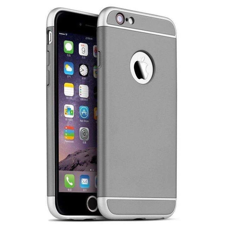 FinestBazaar Back Cases Grey iPhone 6s Plus Case Hard Back 3 in 1 Cover