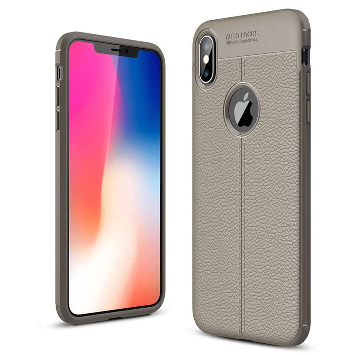 FinestBazaar Back Cases Grey iPhone Xs Case Silicone Shockproof Cover
