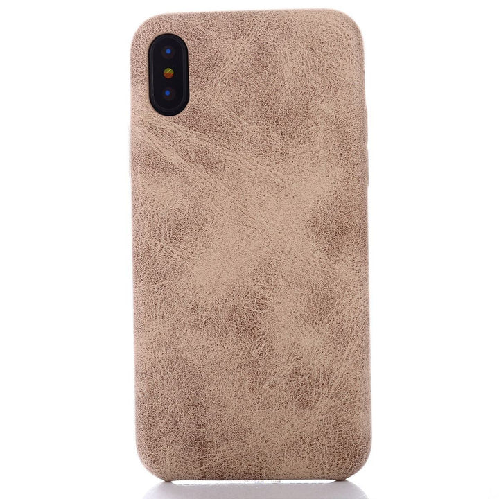 FinestBazaar Back Cases Ivory iPhone 8 Case Leather Thin Slim Back Cover
