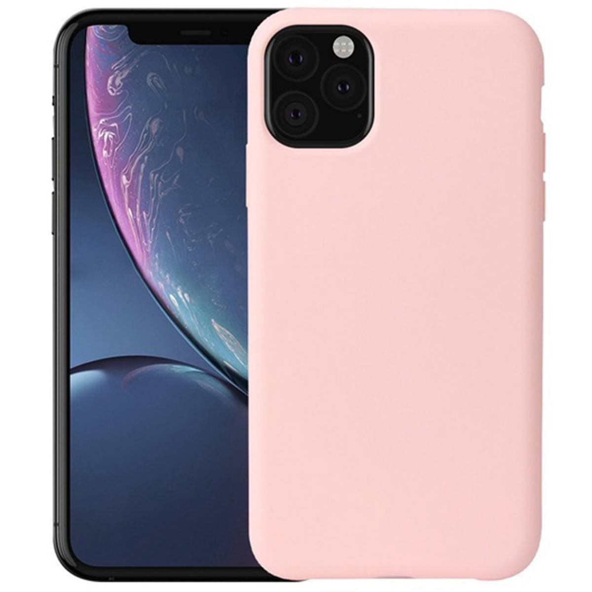 iPhone 11 Case Silicone Back Soft Rubber Cover - Pink