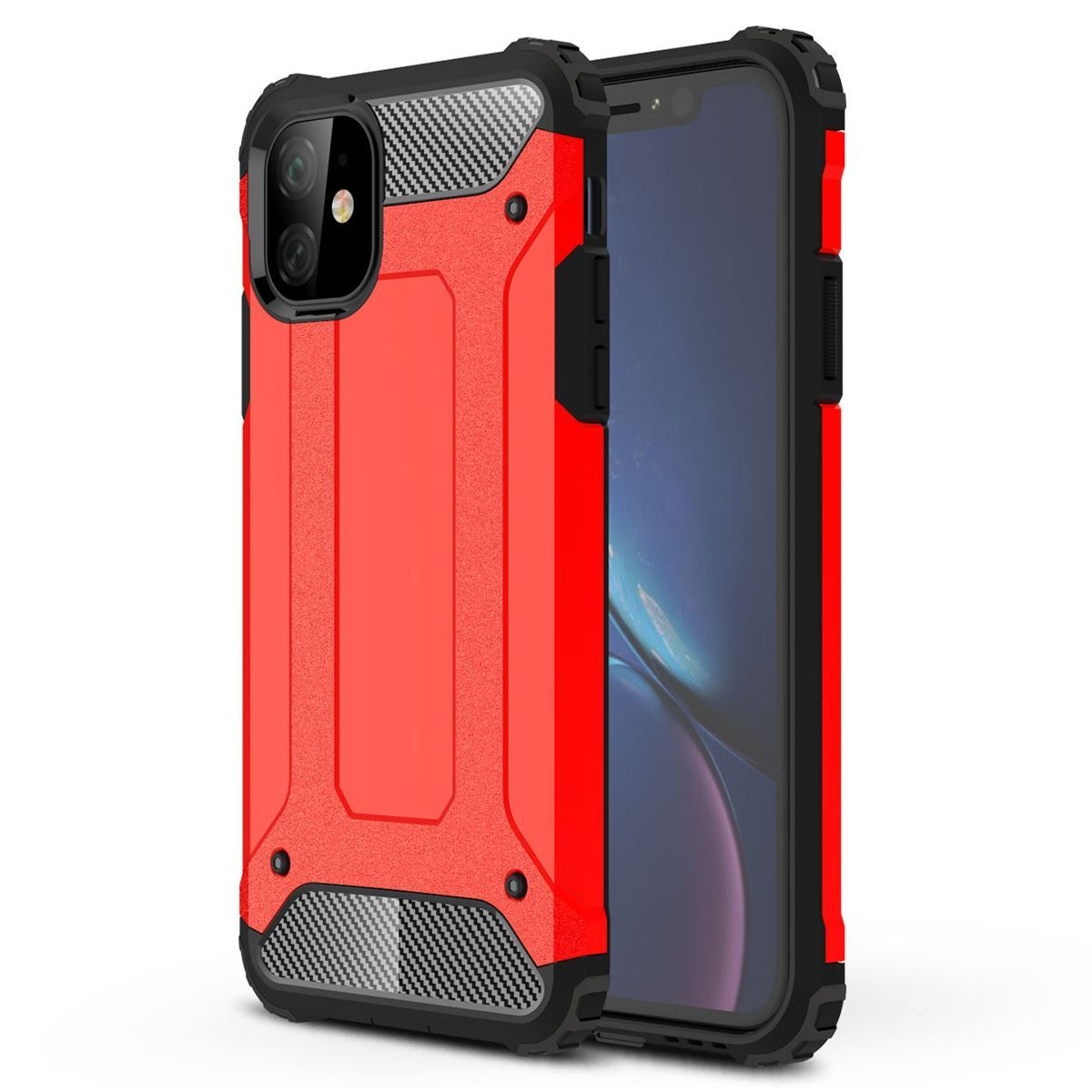 iPhone 11 Case Shockproof Protective Cover - Red