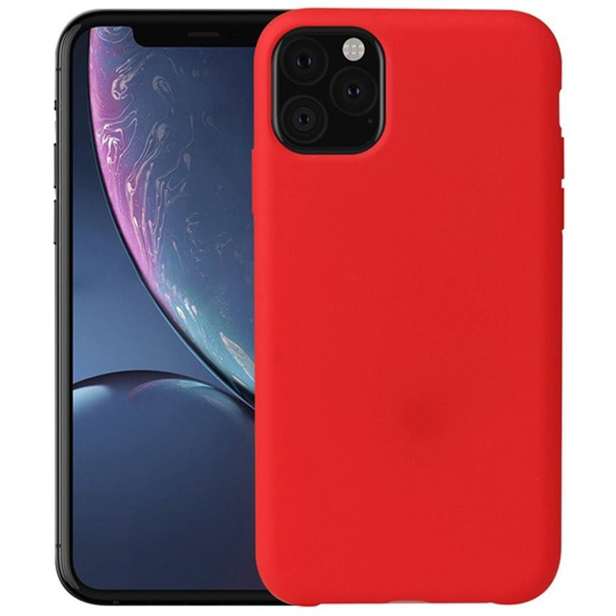 iPhone 11 Case Silicone Back Soft Rubber Cover - Red