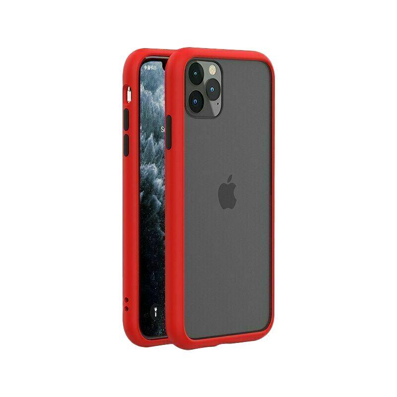 iPhone 11 Pro Case Bumper Hard Back Cover - Red