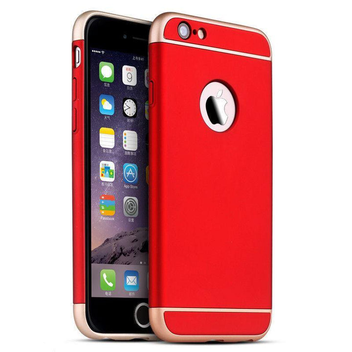 FinestBazaar Back Cases Red iPhone 7 Plus Case Hard Back 3 in 1 Cover