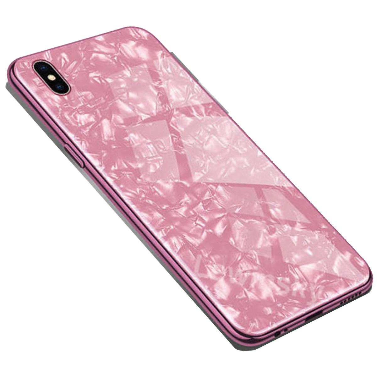 iPhone 11 Case Marble Back Bumper Cover - Rose Gold