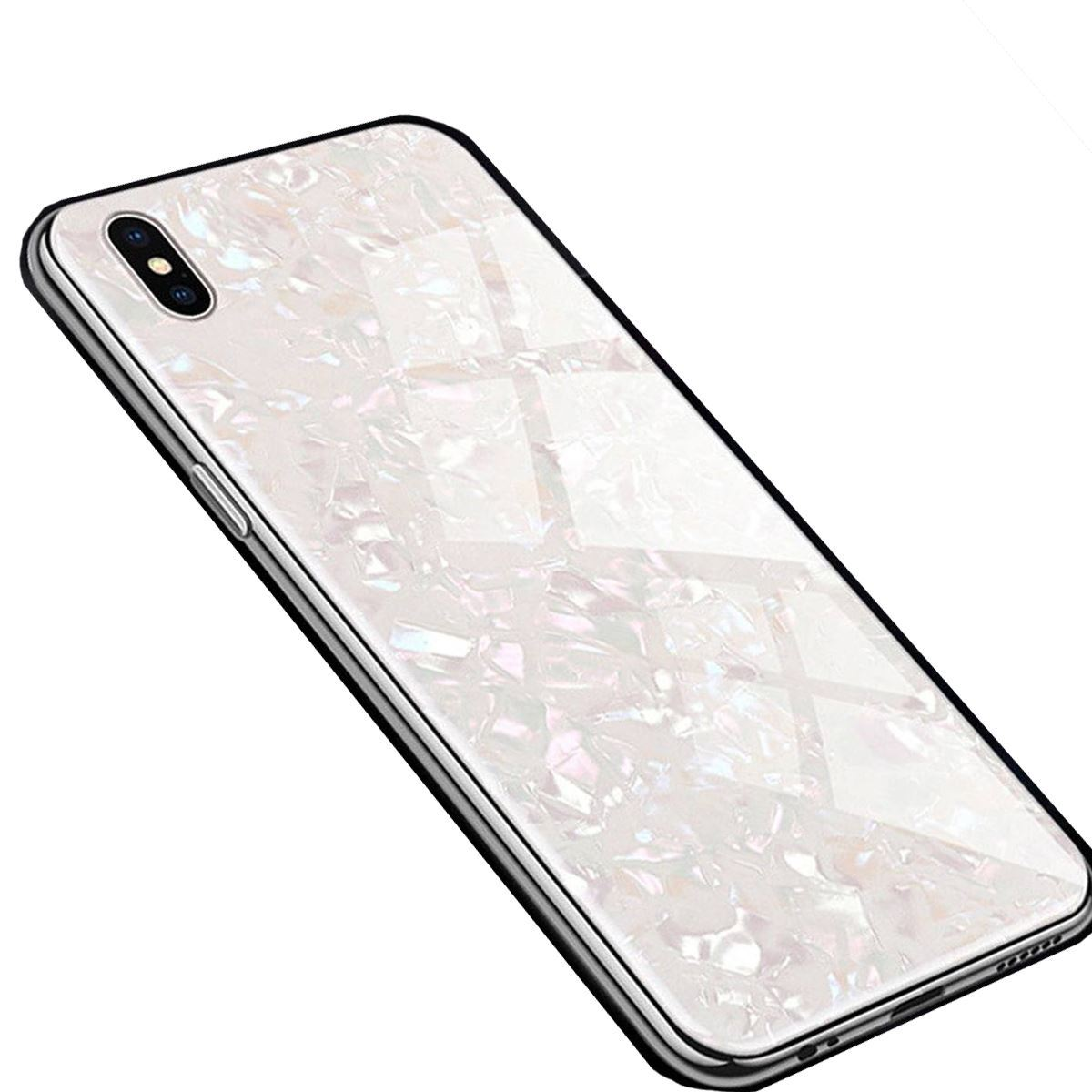 iPhone 11 Case Marble Back Bumper Cover - White