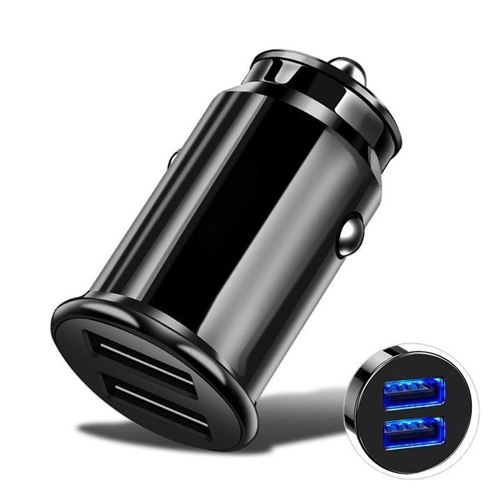 FinestBazaar Car Chargers Fast Charging USB Car Charger Dual Port 4.8a