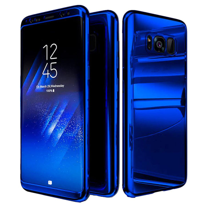 FinestBazaar Hybrid Cases Blue Samsung S9 Case ShockProof Hybrid Mirror Cover