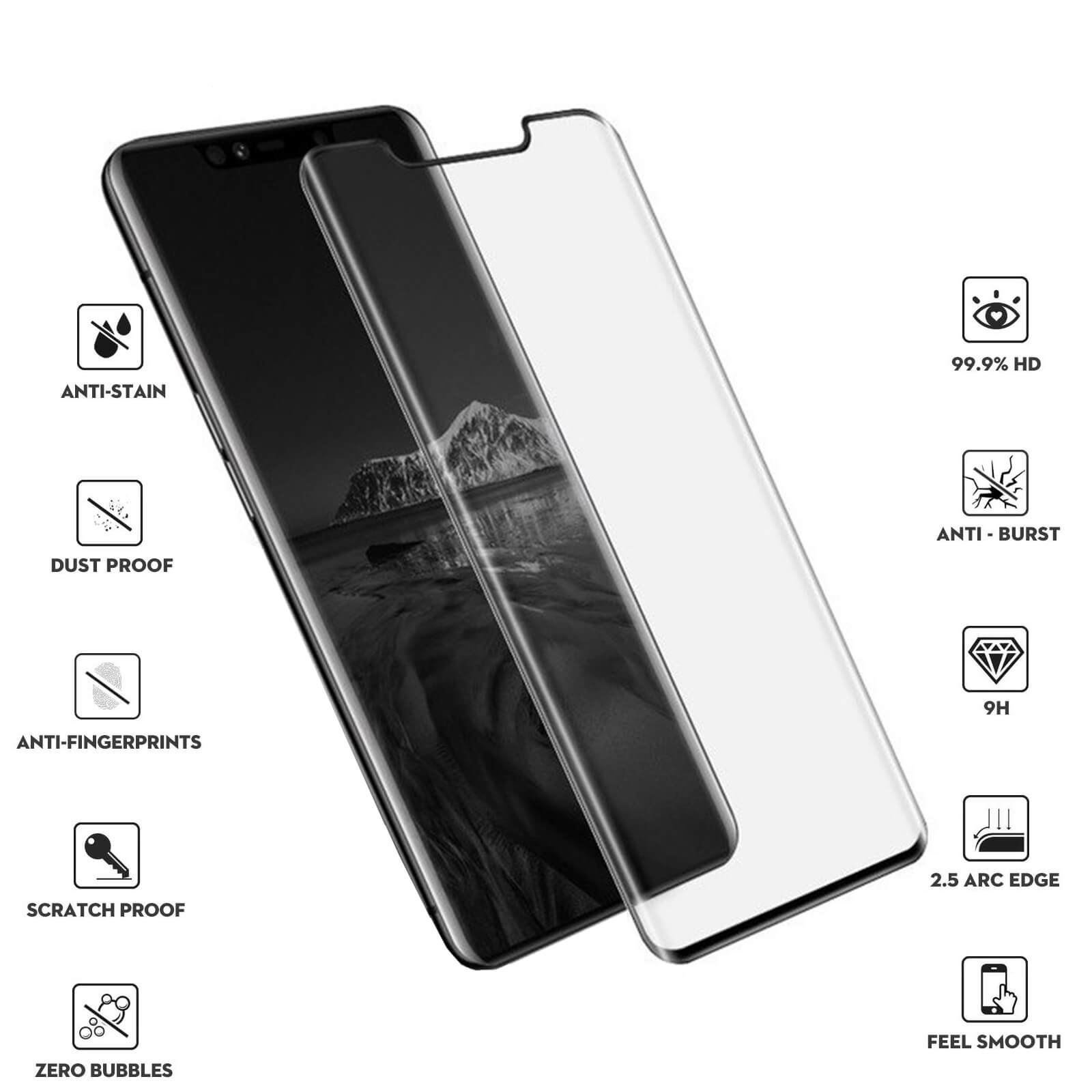 Huawei Mate 20 Pro Tempered Glass Screen Protector - Black