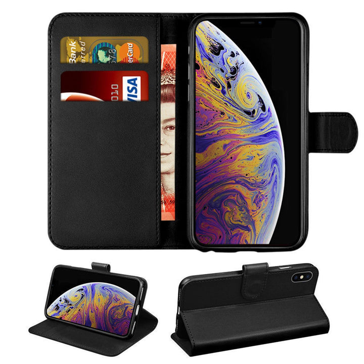 FinestBazaar Wallet Cases Black iPhone 12 Pro Max Case PU Leather Wallet Flip Cover