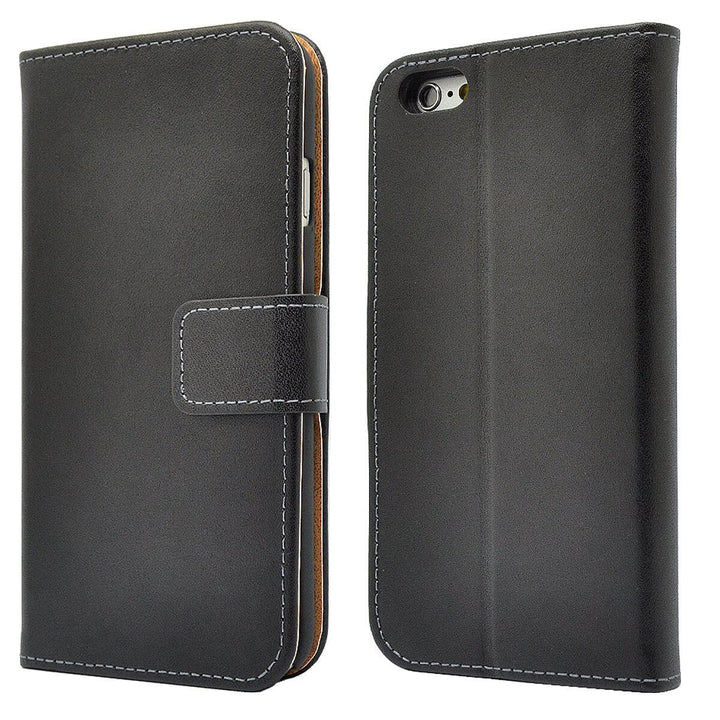 FinestBazaar Wallet Cases Black iPhone 8 Plus Case Leather Flip Wallet Cover