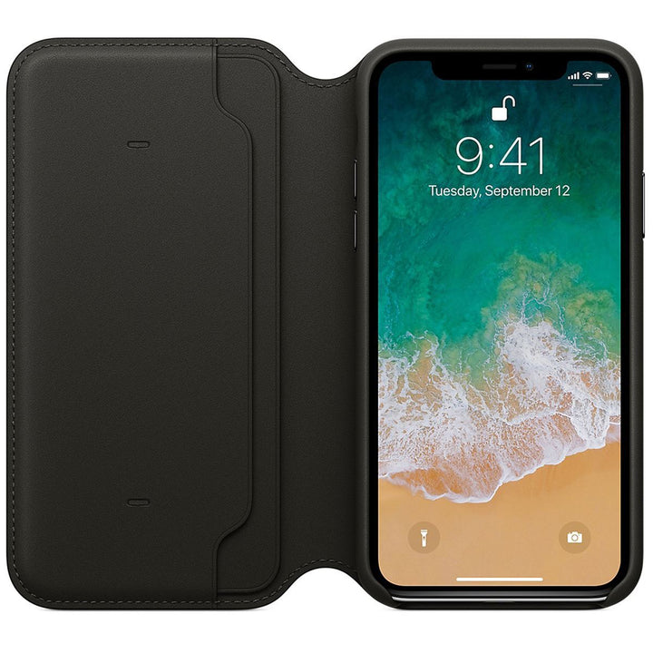 FinestBazaar Wallet Cases Black iPhone Xs Max Case Leather Flip Wallet Folio Cover