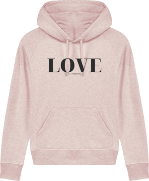 Hoodie Love Femme - STAY POSITIVE - Nude