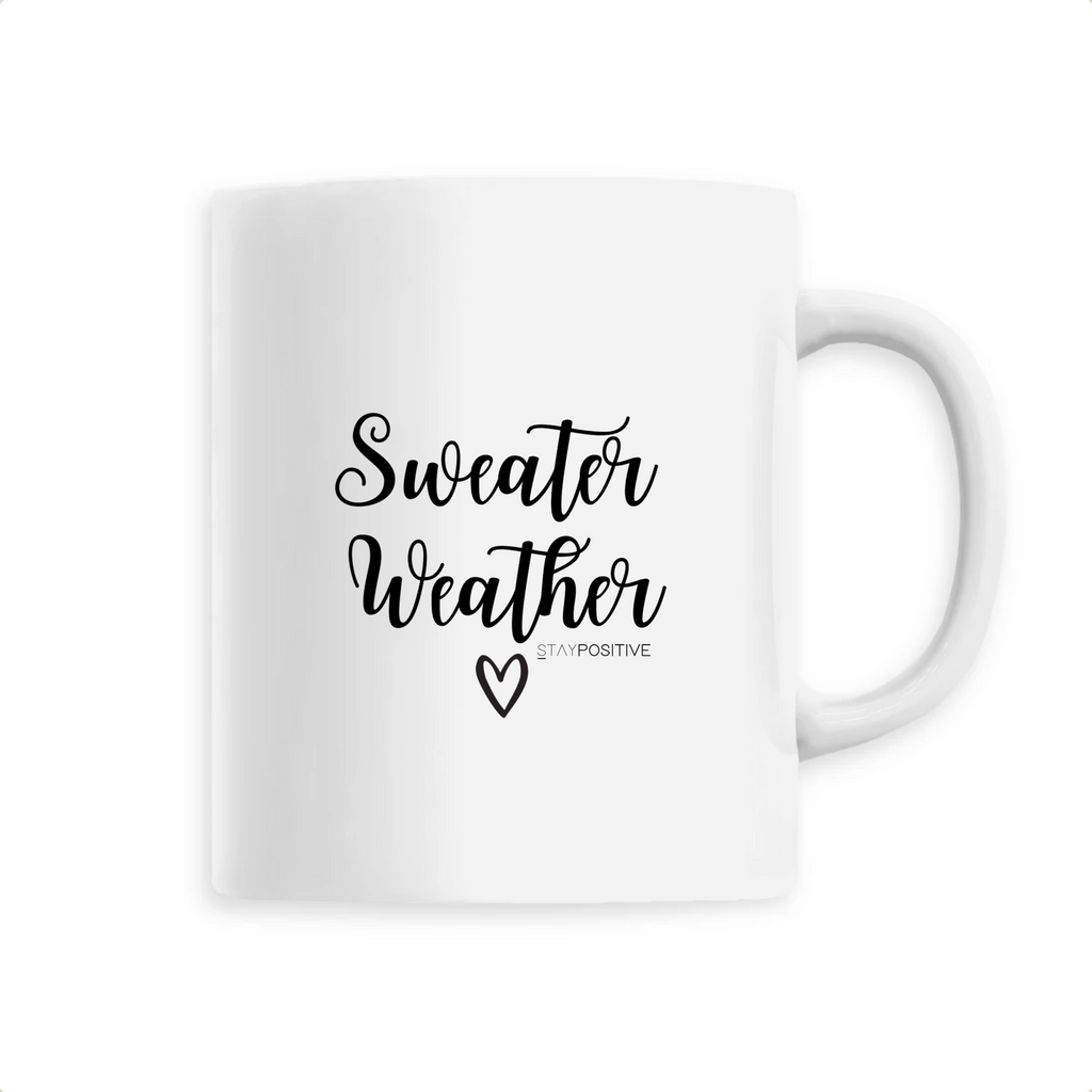 Mug Sweater Weather - Blanc - STAY POSITIVE