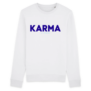 Sweat Karma Blanc Femme - STAY POSITIVE