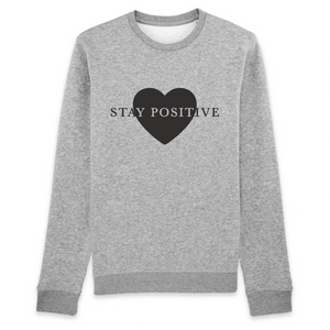 SWEAT STAY POSITIVE GRIS  LOVE FEMME