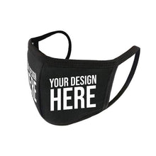 Load image into Gallery viewer, Custom Vinyl Printed Reusable Anti Dust Black Face Mask
