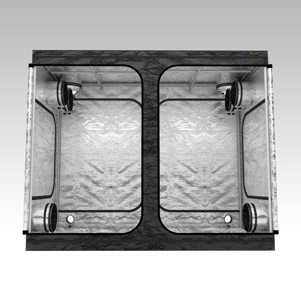 2.4m x 1.2m Grow Tent | 2.4m x 1.2m x 2m | LAB240-S | Centre View