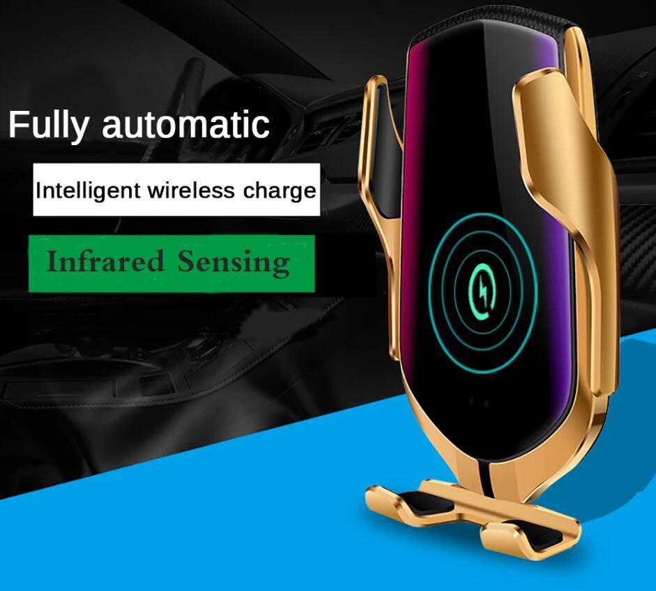 Automatic Clamping Wireless Charger Car Phone Holder