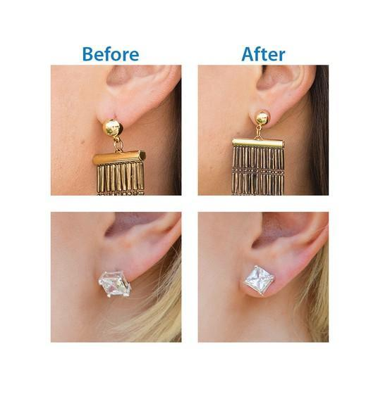 Magic Bax - Amazing Earring Lifts Pack of 2 (Gold- Silver)