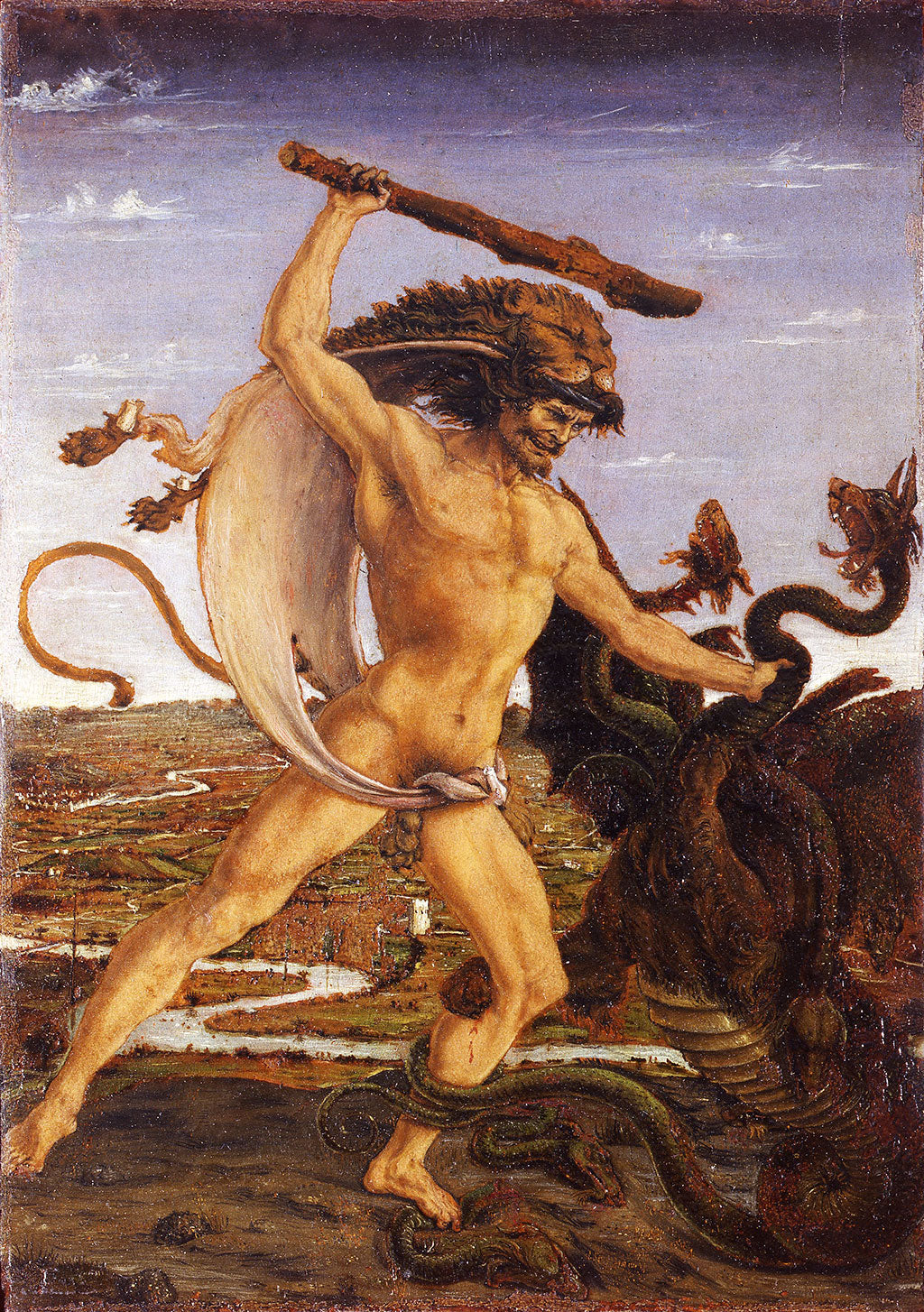 Pollaiolo's masterpiece depicting Hercules and the Hydra of Lerna