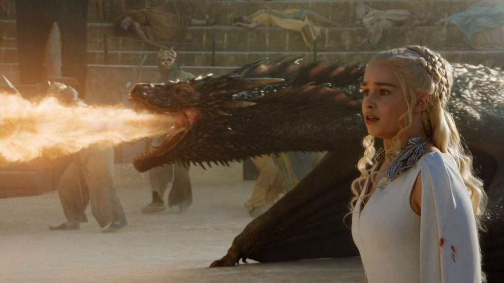 Daenerys and Drogon in season 5