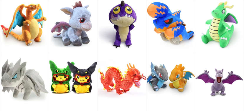 Dragon Plushies