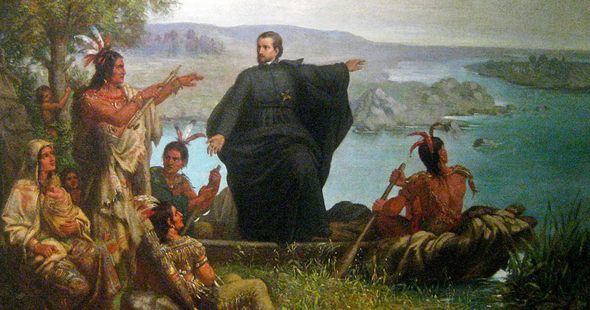Father Marquette and the Amerindians