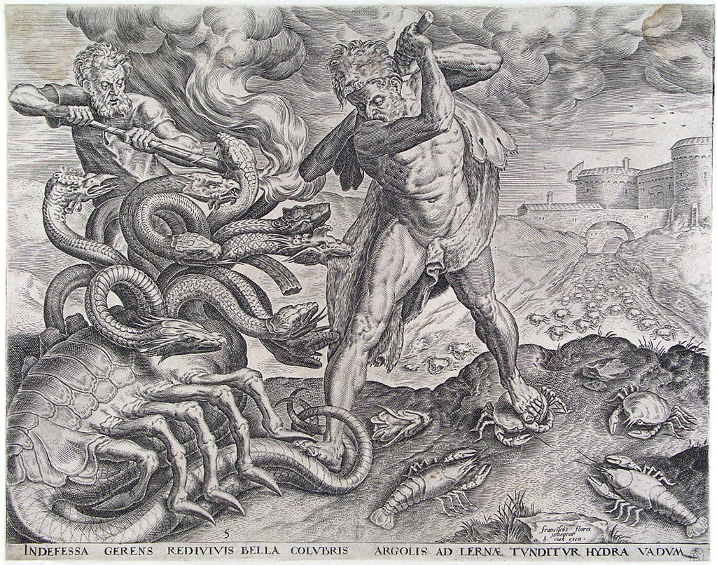 Heracles Vs. Hydra of Lerna