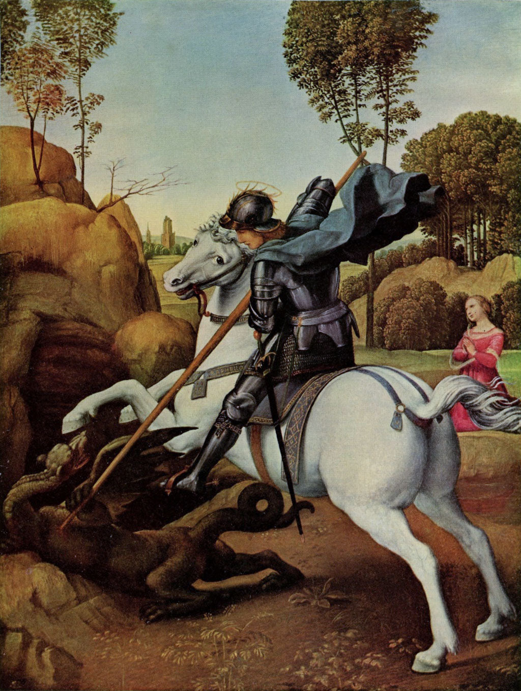 Saint George and the Dragon, Raphael